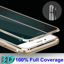 Shatterproof Aluminum Edge Design 3D Curved Coverage Tempered Glass Full Screen Film For iphone 6 6s/ 6 Plus 6s Plus