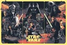 star wars ,Leia Organa,Darth Vader,Luke Skywalker,Han Solo,stormtrooper,Yoda movie Poster Canvas Fabric Print Wall Art Decor