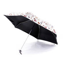 New Creative Brand Five-Folding Umbrella Light Small Kids Toys Pockets Umbrella Rain Women Cute Grid Little Bear Beach Umbrella(China)