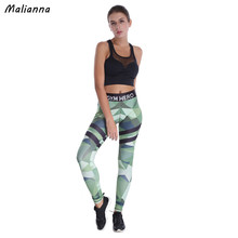 Buy Malianna New Fashion Women High Waist Pencils Pants Sporty Leggings Color Block Fitness Workout Skinny Women Leggings Pink Green for $14.51 in AliExpress store