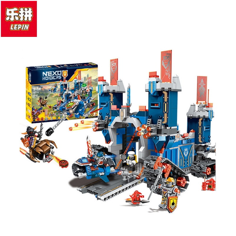 Lepin 2017 New 1240 Pcs Nexus Knights The Fortrex Castle Building Block Clay Aaron Fox Axl Compatible Brick Toy Children<br>