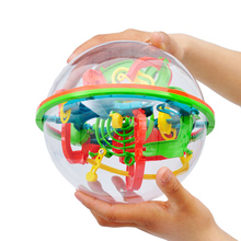 3D Magical Intellect Ball Maze Puzzle 100Levels Rolling Ball Amazing Balance Ball Brain Teaser Educational Toys for Children