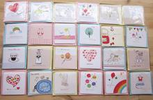 S20Di5 Hot Sale 336pcs/lot ideas small card for valentine's day greeting CARDS mini cartoon CARDS with Envelopes