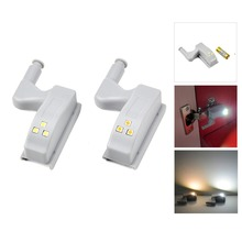 LED Hinge Light Wardrobe Guide Night light 0.3W Auto Switch ON OFF Sensor lamp Mount on Cupboard Closet Door Lamp Mini LED Bulb
