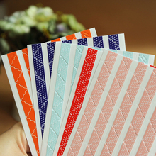 390 pcs/lot (5sheets) DIY lace Solid color opaque Corner Paper Stickers for Photo Albums Frame Decoration Scrapbooking wholesale(China)