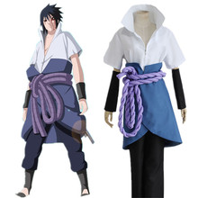 Japanese Anime Naruto Shippuden Clothing Uchiha Sasuke Cosplay Costumes 4th Generation Clothes(China)