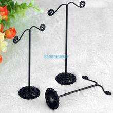6pcs 2 Sets Jewelry Earrings Display Stand Holder Showcase Black Jewelry Earrings Display Holder Showcase Rack Stand ES0192