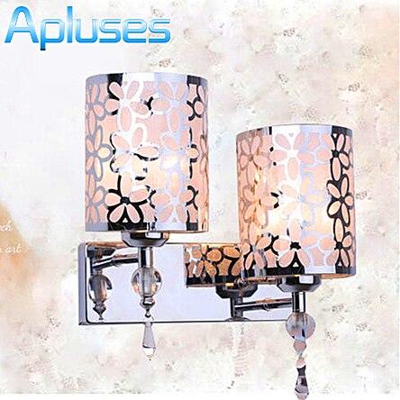Fashion Modern Art High Grade Crystal Wall Lamp For Home Bedroom Living Room Decoration Wall Light Dual Bulb Holder Flower<br><br>Aliexpress