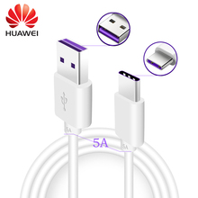 Original Huawei Mate 9 Pro Supercharge Type C Cable Fast Charging 5A Usb Type-C Cable for Huawei P10 Plus Usb Cable Type-C 1M