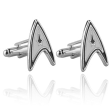 Jewellery star trek ensign Badge wars cufflinks male French shirt cuff links for men's Jewelry Gift free shipping c40