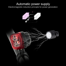Coquimbo Red LED Taillights Night Light For Bicycle Waterproof Automatic Magnet Power Supply Bike Night Light Built In Battery(China)
