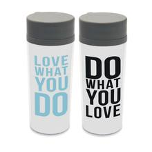 Black White Minimalist Quotes Double Wall BPA Free DIY Insulated Kids Plastic Water Bottle Custom Art Print 300ML Drinking(China)
