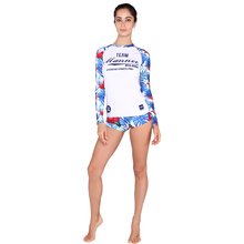 UPF50+ Long Sleeve Surf Rash Guards Skin Suit Wetsuit Snorkeling Suits Swimwear Surfing Shirt and Shorts VY025