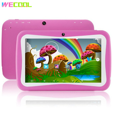 Discount Promotion 7 inch WeCool Child Tablet PC Designed for Kids 8GB Quad Core Android Preinstalled lots of Children EDU Games