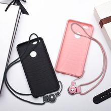 HOPELF Fitted Case for Xiaomi Mi A1 Case Silicon Cute Pink Black Lanyard Coque for Cover A1 Case Xiaomi MiA1 Cover(China)