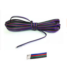 1m 2m 3m 4m 5m 10m 20m 50m 100m 4 Pin Channels cable for 5050 3528 RGB LED Strip Light Module Extension Wire Cord(China)