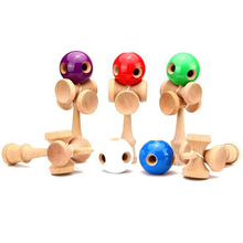 5 Holes and 5 Cup Kendama Wooden Toy Sword Ball Traditional Ball Game PU Paint Beech Juggling Ball Toys For Children Adults