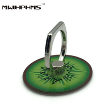 universal Kiwi fruit series acrylic metal finger ring stent 360 degree rotation mobile phone holder buckle phone stand