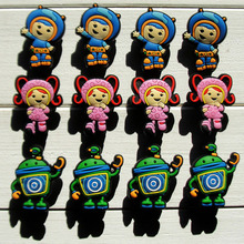 Hot Sale 60pcs Team Umizoomi PVC Shoe Charms /Shoe Buckles For Wrist Strap Shoe Ornaments/Accessories,Kids Party Supplies Gift