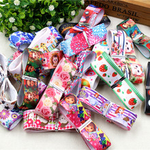 1510963 , 10 style mix 25MM-22MM cartoon series Printed grosgrain ribbon , DIY handmade accessories Material wedding gift wrap