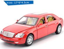 free shipping 2016 New style Maybach WELLY 1:32 Original Simulation alloy car model Toys for boys Collectibles(China)