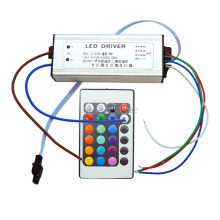 IP67 Waterproof 30W RGB LED Driver with 16 Colors Remote Control For 30W High Power RGB LED Light