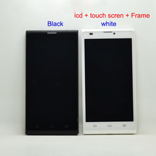For ZTE Blade L2 LCD Display Panel Monitor + Touch Screen Digitizer Glass Sensor Assembly + Frame Bezel Housing