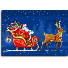 Santa Diamond Painting Cartoon diy embroidery square diamond crystals Christmas Moose canvas for embroidery pictures on the wall(China)
