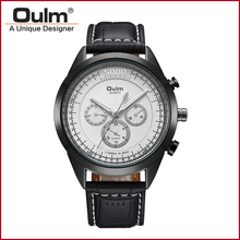 OULM Vintage Quartz Watch Simple Men Watch Luxury wristwatches Top business Watch Made in China