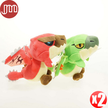 "New 2pcs Lioleus Lio Plush Doll 4G X Monster Hunter Dragon Stuffed Toy Birthday Gift 8"" Kids Brinquedos Anime Anime Baby Dolls"