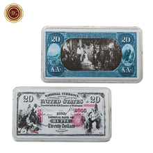 WR 20 Dollar American World Paper Money Souvenir Bar Collectible 999.9 Silver Bars Metal Crafts Business Souvenir Gifts Items(China)