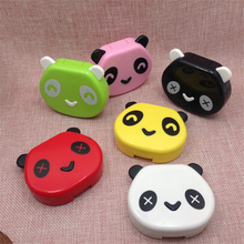 Eyewear Cases Cartoon Panda Face Travel Glasses Contact Lenses Box Contact lens Case for Eyes Care Kit Holder Container Gift