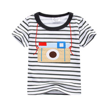 2017 Hot Brand Boys T Shirt Striped Tops Tee Kids Tops Designer Toddler Baby Boys T Shirt Cotton Short Sleeve Children Tops