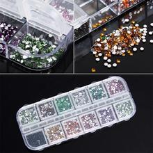 Nail Art Decoration Multi Color Mix Shaped Rhinestone Nail Glitter for UV Gel Nail Polish Manicure Accessories Pedicure # M01142
