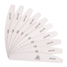 4 Different Types Zebra Nail Files Washable Double-Side Emery Board 100/100 100/180 150/150 240/240 Grit Nail Buffer XG0242