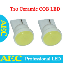 100X T10 COB LED White Blue Red Green Yellow 12V DC W5W LED Wedge Side License Light Lamp Car Light Source