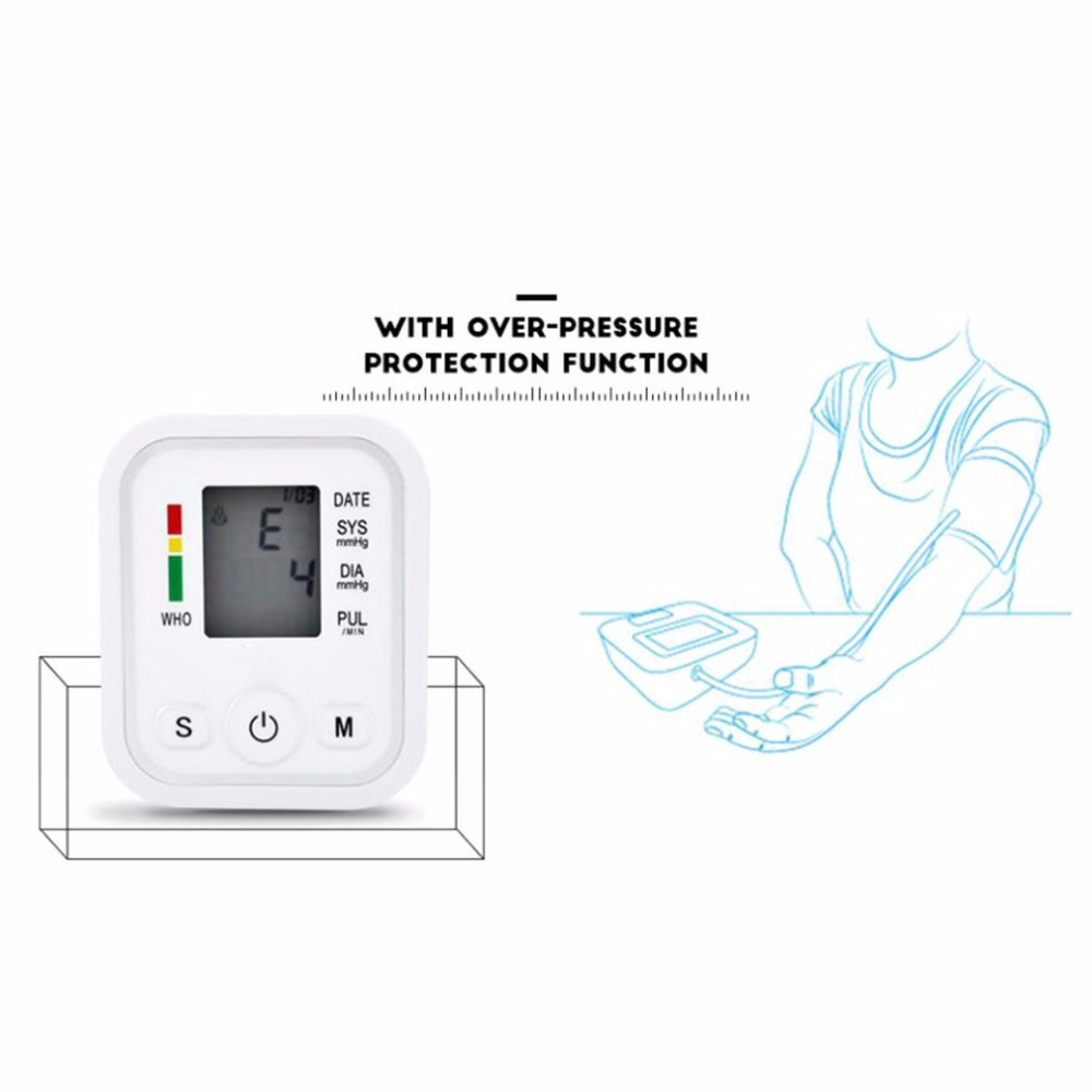 Arm Type Electric Voice Tonometer Meter Health Care 99 Memory Blood Pressure Monitor Pulse Oximeter Household Sphygmomanometer 13