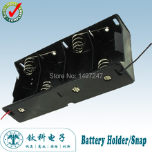 1pcs/lot 4 D Battery Holder Wired Battery Box Case For 4pcs LR20/UM1/AM1 batteries TBH-D-4A