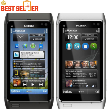 "N8 Original Nokia N8 Mobile Phone 3.5"" Touch screen 3G GPS WIFI Camera 12MP Unlocked Cell Phone Freeshipping"