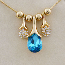 South Korea accessories wholesale network Yiwu jewelry wholesale market in Austria - a portrait of Crystal Necklace B41(China)
