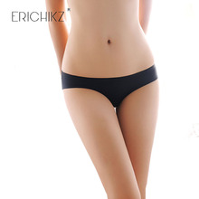 ERICHIKZ Women Invisible panties Spandex Seamless Crotch one piece of ice silk without trace low waist underwear for women