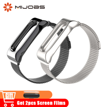 Buy Mijobs Milanese Metal Strap Watch Mi Band 2 Strap Wrist Stainless Steel Smart Watches Bracelets Xiaomi Mi Band 2 Accessories for $8.71 in AliExpress store