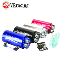 VR RACING - Universal 10mm D1 Engine Round Oil Catch Tank Can JDM BLACK,SILVER,RED,BLUE VR-TK82