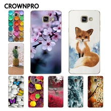 CROWNPRO Soft TPU FOR Coque Samsung Galaxy A5 2016 Case Cover A510 A510F A5100 Printed Phone Back FOR Funda Samsung A5 2016 Case