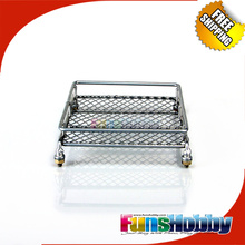1/10 Scale RC Crawler Roof Luggage Rack Fits SCX10 Land Rover D90 RC4WD Silver Jeep Wrangler CR01 #FH31026(China)