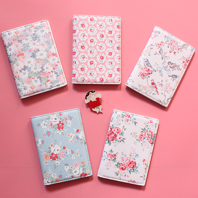 floral print passport cover