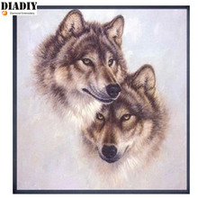 5D Diamond Painting animal  Crystals Rhinestone Needlework Embroidery Beads  wolf Kits Handmade Painting By Numbers