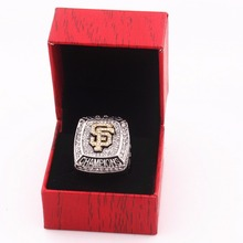 US size 8 to 14 yards 2012 San Francisco Giant Union Baseball Champion Ring replica and upscale wooden box