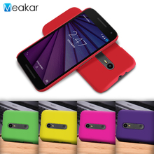 Grind arenaceous Hard Plastic shell 5.0for Moto G3 Case For Motorola Moto G3 G 3rd Gen Cell Phone Cover Case(China)