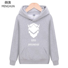 New hot game fans hoodies Autumn Winter warm Genji costume Watch over Genji logo printing gamer hoodies ac185(China)